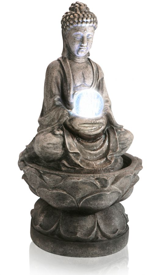 Fontaine bouddha m dium avec lumi re led 139 99 for Fontaine exterieur bouddha