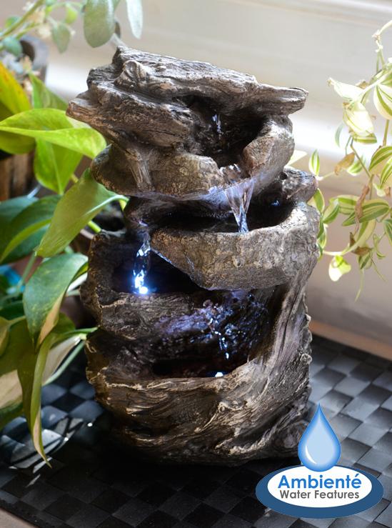Fontaine de table cascade hayal 3 niveaux avec lumi res - Fontaine de table ...