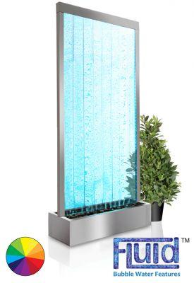 Mur d 39 eau bulles elysium 2 13m avec eclairage et for Eclairage telecommande interieur