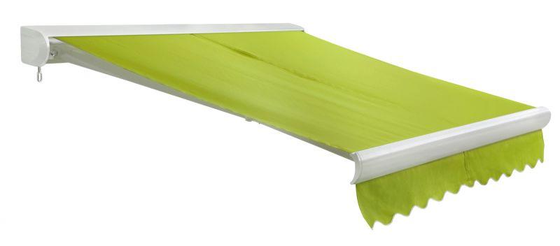 store banne coffre entier u line sans fil vert citron 3m x 2 5m 459 99. Black Bedroom Furniture Sets. Home Design Ideas