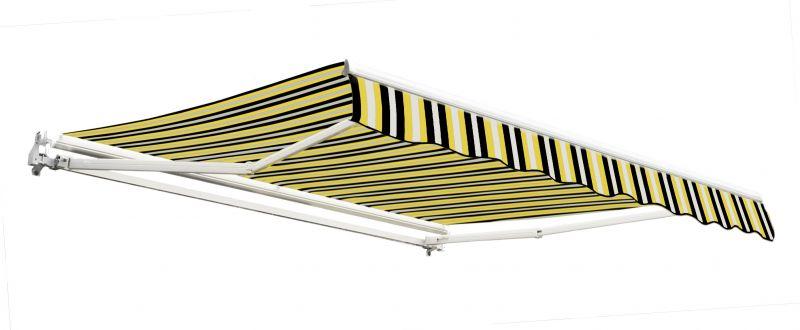 store banne budget manuel rayures jaunes et grises 4m x 3m 359 99. Black Bedroom Furniture Sets. Home Design Ideas