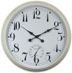 Grande Horloge d'Ext�rieur - Blanche - Thermom�tre Hygrom�tre - 90cm - About Time�