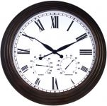 Horloge d'Ext�rieure Grande Thermom�tre Hygrom�tre - 69cm - About Time�