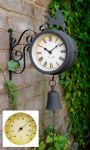 Horloge d'Exterieur Th�rmom�tre Hygrom�tre Cheval et Cloche - About Time�