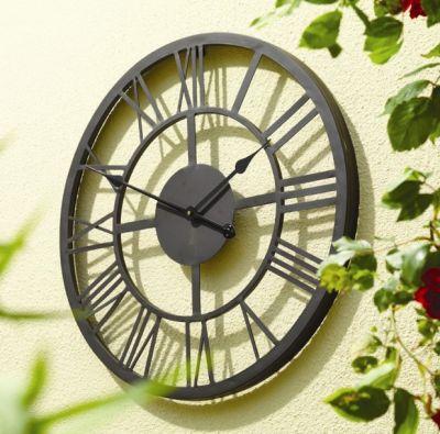 horloge g ante avec chiffres romains 56cm 49 99. Black Bedroom Furniture Sets. Home Design Ideas