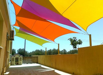 voile d 39 ombrage jaune carr 3 6m imperm able 160g m2 kookaburra 84 99. Black Bedroom Furniture Sets. Home Design Ideas