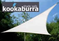 Voile d'Ombrage Blanc Polaire Triangle Rectangle 4.2m - Ajour� - 185g/m2 - Kookaburra