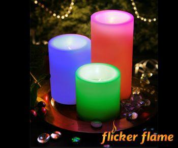 bougies cierges led couleurs changeantes avec. Black Bedroom Furniture Sets. Home Design Ideas