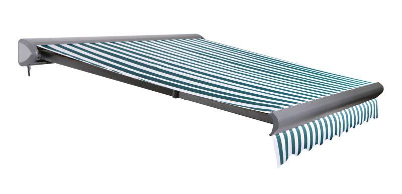 store banne coffre entier v line sans fil rayures vertes et blanches 4m x 3m 694 99. Black Bedroom Furniture Sets. Home Design Ideas