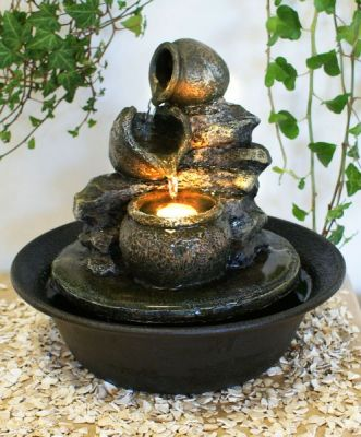 Fontaine d 39 int rieur zen vase led relaxantes 47 99 for Fontaine interieur zen