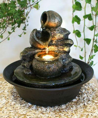 Fontaine d 39 int rieur zen vase led relaxantes 46 99 for Fontaine interieur zen