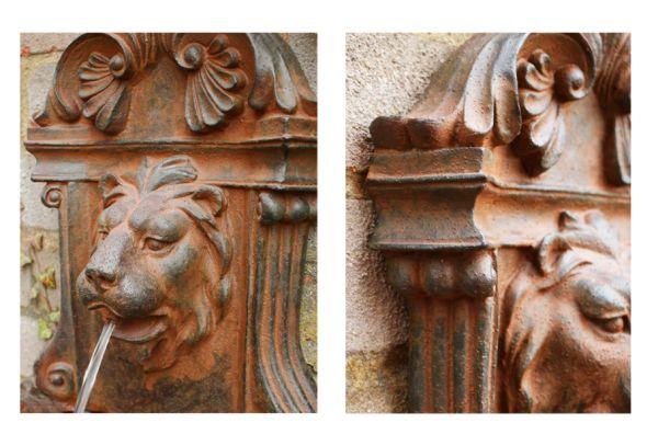 fontaine murale petite t te de lion jardin mur d eau