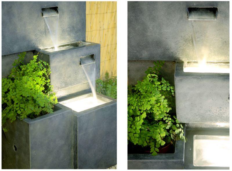 Fontaine d 39 ext rieur cascade jardini re avec lumi res 249 99 - Fontaine cascade exterieur ...