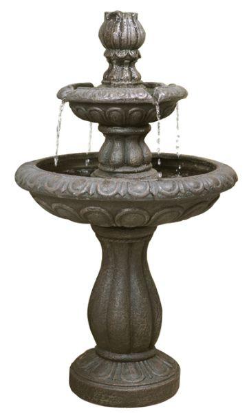 Fontaine 2 niveaux de jardin exterieur cascade bassin for Jardin 2 niveaux