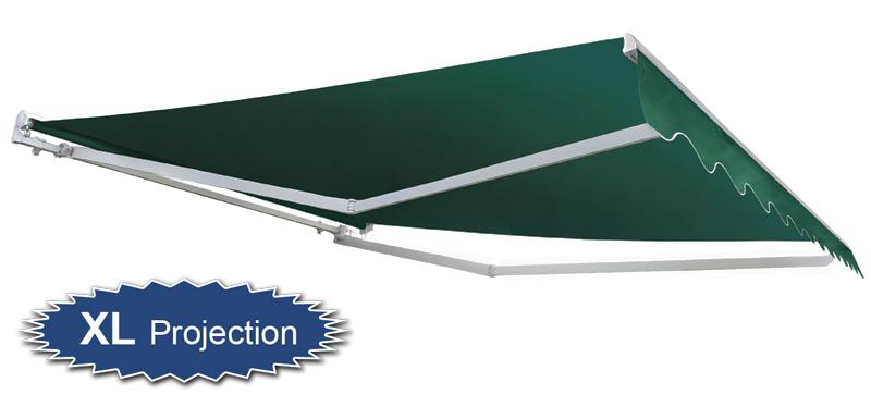 store banne demi coffre manuel vert 3m x 4m 549 99. Black Bedroom Furniture Sets. Home Design Ideas