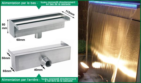 30cm - cascade lame d'eau en acier inoxydable 69,99 €