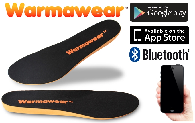 Semelles Chauffantes Connectées via Bluetooth Imperméables - Warmawear™ ... a28338b70d1