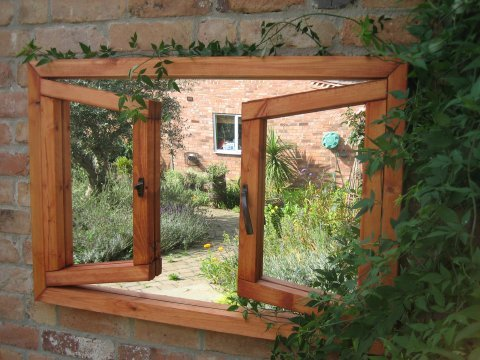 miroir trompe l oeil double fenêtre 180 99