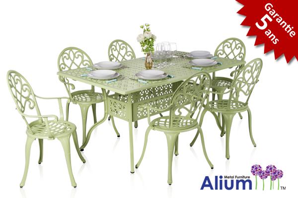 Salon de Jardin Rectangulaire 6 places Alium™