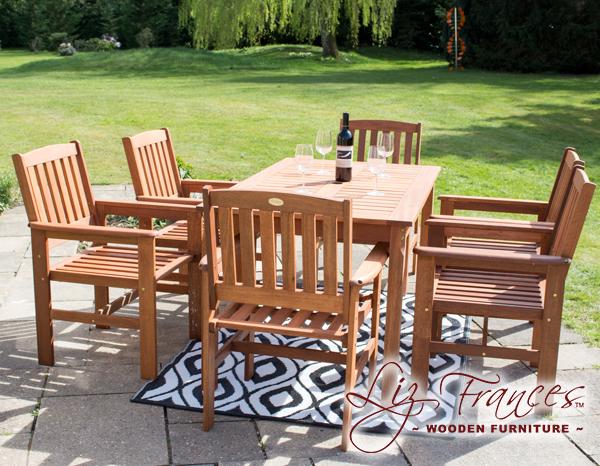 ensemble salon de jardin 6 places en bois kendal et oakham par liz frances - Ensemble Salon De Jardin