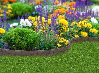 Bordure de Jardin EZ Style Mur Dallé (Lot de 10 x 1,2m) – Couleur ...