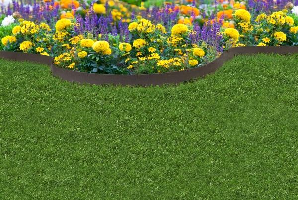 Bordure de Jardin EZ Fine Bande(Lot de 5 x 6,1m) – Couleur Terre 167 ...
