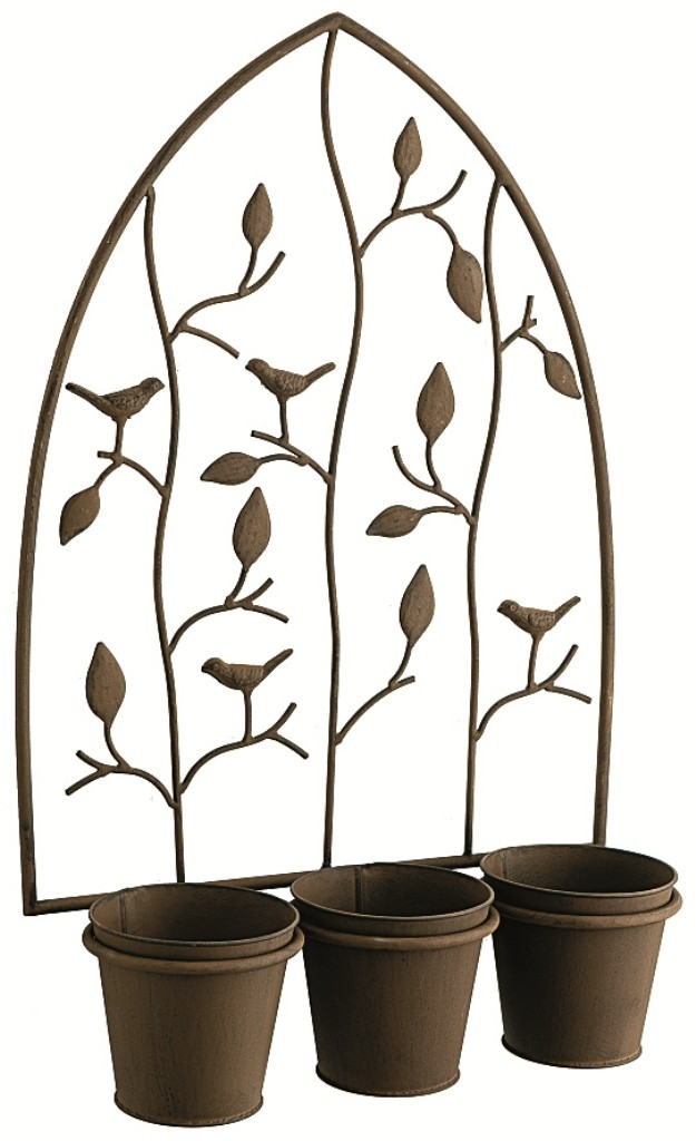 cache pot mural d coratif 3 pots nature 23 99. Black Bedroom Furniture Sets. Home Design Ideas