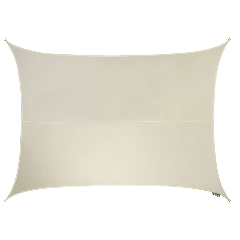 Kookaburra® 6mx5m Rectangle Ivory Waterproof Woven Shade Sail