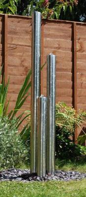 1.37m/100cm Fontaine de Jardin à 3 Tubes Acier Inox avec LEDs 174,99 €