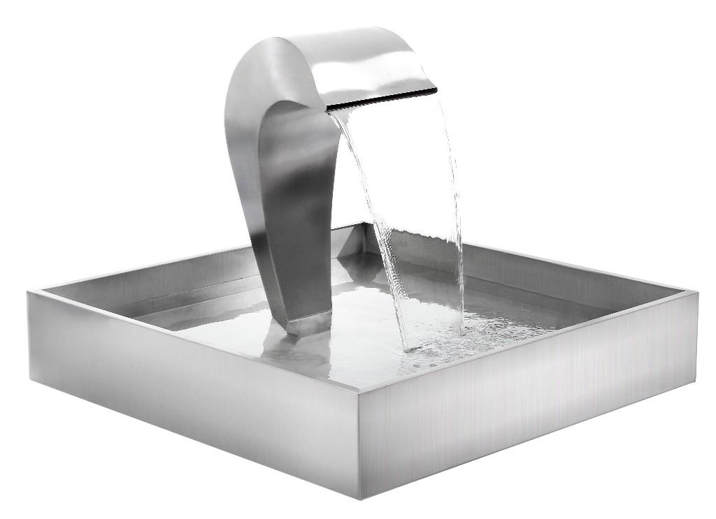 fontaine cascade dauphin en acier inoxydable 269 99. Black Bedroom Furniture Sets. Home Design Ideas