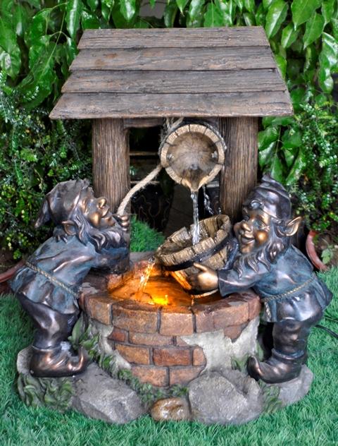 Fontaine En Polyr 233 Sine Nains De Jardin Au Puits Enchant 233