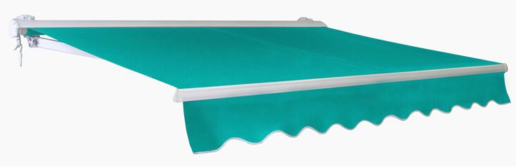 store banne demi coffre manuel - turquoise - 4m x 3m 599,99 €