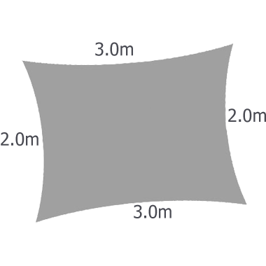 Rectangle 3,0m x 2,0m