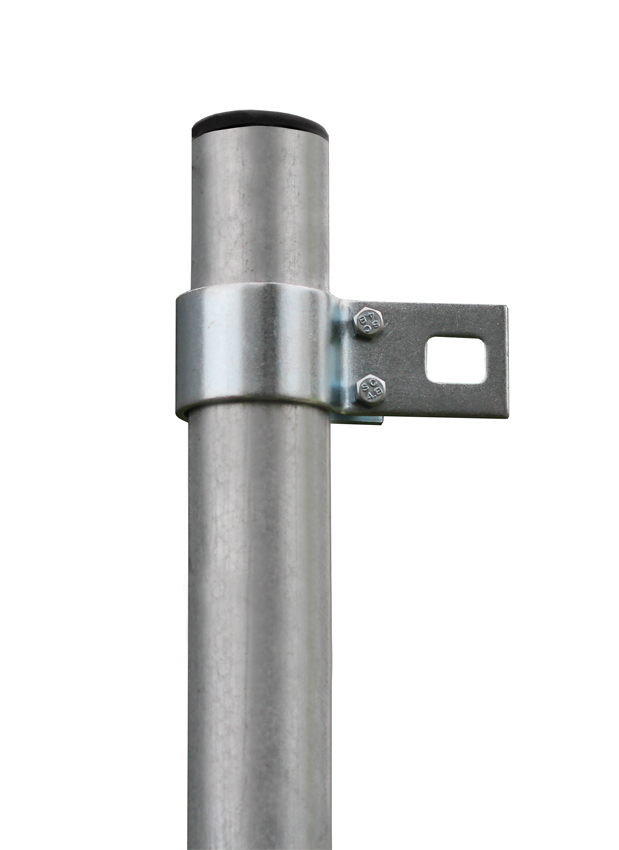 "9ft 10"" / 3m Galvanised Shade Sail Pole With Bracket Clamp"