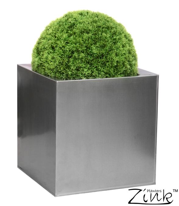 Cache-Pots Cubes en Zinc Galvanisé - Gris Argent 69,99 €