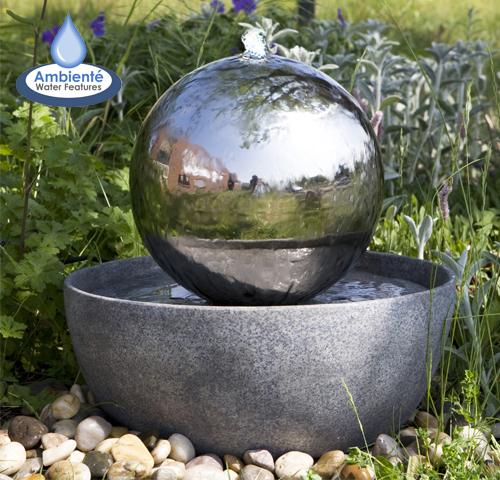 Fontaine Boule Eclipse en acier inox avec LED 149,99 €