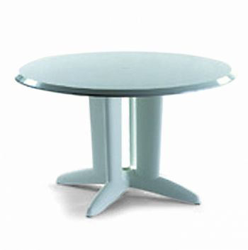 Table Ronde 122cm - Polyester Pied Central