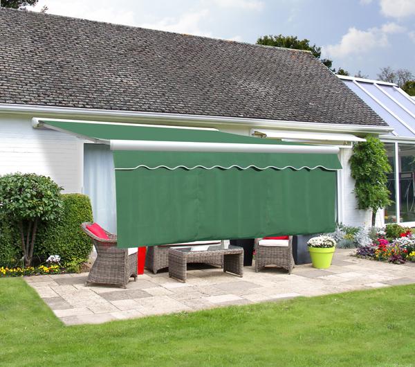 lambrequin enroulable vert pour store retomb e 1m. Black Bedroom Furniture Sets. Home Design Ideas