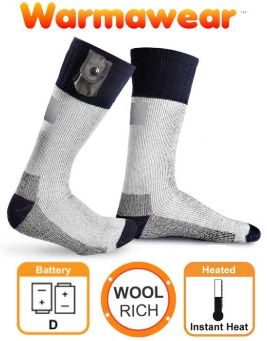 Chaussettes Chauffantes à Piles Warmawear™ avec Bandes Réfléchissantes ... b6ce8233a7e