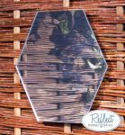 Miroir Hexagonal En Acrylique Argenté 30cm - By Reflect™