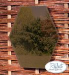 Miroir Hexagonal En Acrylique Couleur Bronze 30cm - By Reflect™
