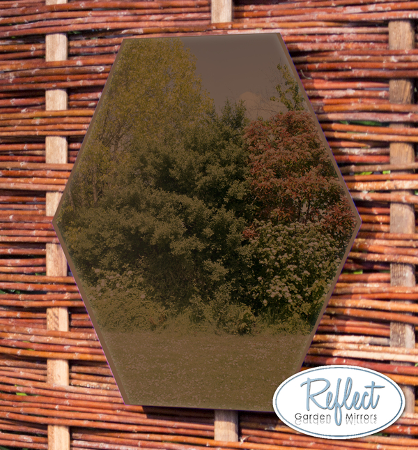 Miroir Hexagonal En Acrylique Couleur Bronze 40cm - By Reflect™