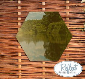 Miroir Hexagonal En Acrylique Doré 30cm - By Reflect™