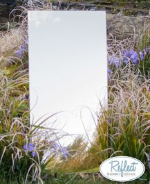 Miroir Taille Moyen Rectangle Doré 120cm x 60cm - By Reflect™