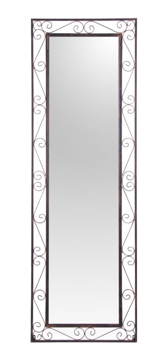grand miroir rectangulaire de jardin en m tal reflect 149 99. Black Bedroom Furniture Sets. Home Design Ideas
