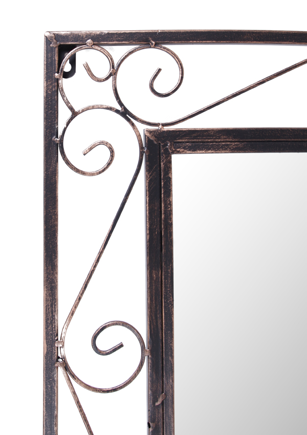 Grand miroir rectangulaire de jardin en m tal reflect 149 for Grand miroir metal