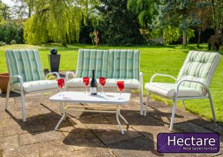 Set de sofa de jardin 4 places avec table à café Hadleigh en blanc par Hectare™
