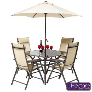Kennet 4 Seater Square Super Polytex Dining Set In Mocha By Hectare®