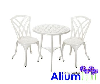 Salon de Jardin 2 Personnes Alium™ Harrison en Fonte d\'Aluminium ...