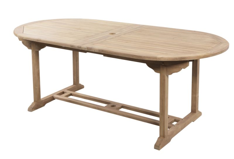 Salon de Jardin 8 Places Teck A Pembroke - Table Extensible 200/300cm